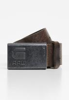 G-Star RAW - Grizzer pin belt - brown & black
