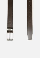 POLO - Enzo leather belt - brown