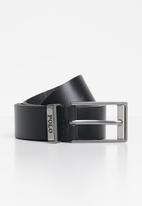 POLO - Enzo leather belt - black