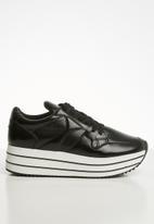 Call It Spring - Baenna metallic platform sneaker - black