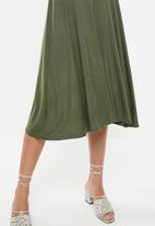 edit - Mock wrap dress - khaki