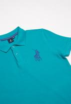 POLO - Boys Austin short sleeve golfer - turquoise