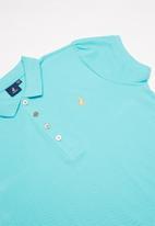 POLO - Girls dakota golfer dress - turquoise