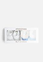 shooshoos - Baby boy gift box - white & blue