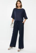 edit - Linen blend trousers - navy