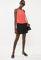 STYLE REPUBLIC - Pleated halter neck top - pink