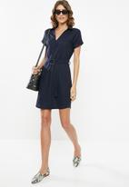 edit - Linen shirt dress - navy