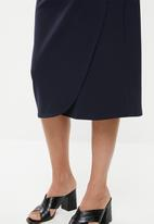 edit - Wrap pencil skirt - navy