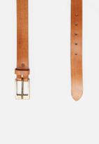 Superbalist - Slim leather belt - tan