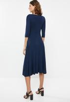 edit - Mock wrap dress - navy