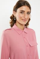 edit - Utility shirt dress - pink