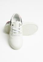 POP CANDY - Boys logo lace up sneaker - white
