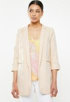 Missguided - Core basic blazer - pale creamy pink