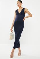 Missguided - Plunge bust cup maxi dress - navy