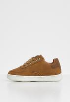 POP CANDY - Boys lace up sneaker - tan