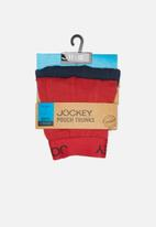 Jockey - Boys 2pack boys pouch trunk - navy & red