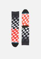 Stance Socks - Blur check socks - multi
