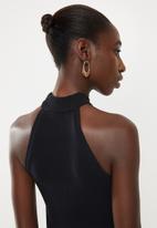 Superbalist - Rib funnel neck vest - black