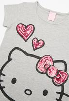 Hello Kitty - Elastane jersey top - grey