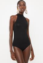 Superbalist - Viscose hi-neck bodysuit - black