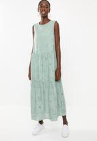 Superbalist - Tiered anglaise dress - green