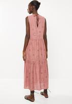 Superbalist - Tiered anglaise dress - pink