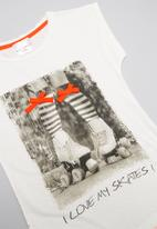 POP CANDY - Love my skates short sleeve tee - cream