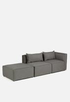 Sixth Floor - Modular ottoman - dark grey
