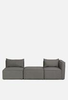 Sixth Floor - Modular single seater - dark grey