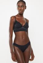 DORINA - Corinne brazilian lace panties - black