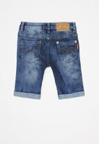 SOVIET - Boys denim short - blue