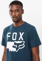 Fox - Transparent short sleeve tee - navy