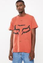 Fox - Leeward short sleeve tee - rust