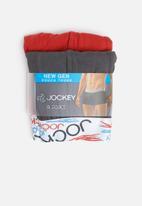 Jockey - 2 Pack new gen pouch trunk - red & black