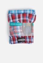 Jockey - 2 Pack woven boxer - red & blue