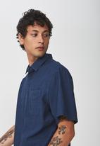 Cotton On - Vintage prep short sleeve shirt - navy