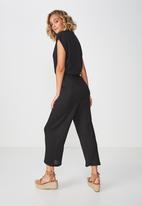 Cotton On - Dea wide leg jumpsuit  - black
