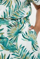 edit Plus - Belted shirt dress - multi
