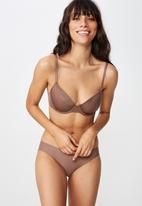 Cotton On - Ultimate comfort T-shirt bra - brown