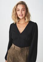Cotton On - Maddie button up blouse  - black