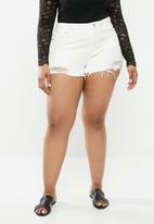 Missguided - Curve extreme rip shorts - white