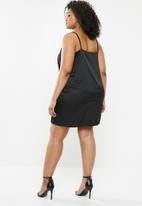 Missguided - Plus size slip dress-co-ord - black