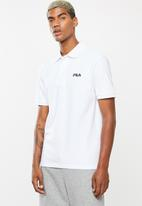 FILA - Noose short sleeve golfer - white