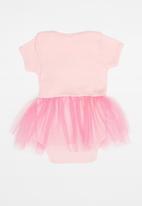 Hello Kitty - Soft jersey cotton bodysuit tulle - pink