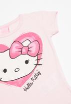 Hello Kitty - Single jersey top and single jersey skirt-shorts - multi