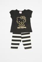 Hello Kitty - Elastane jersey top and pants set - multi