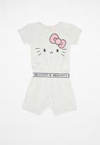 Hello Kitty - Girls sweatshirt romper - grey