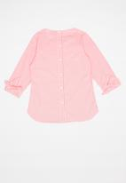 POLO - Claire checked blouse - pink & white