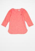 POLO - Girls Daniella long sleeve boxy shirt - coral