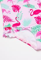 POP CANDY - Girls printed full piece swimsuit - pink & green